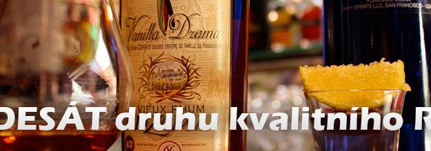 Padesát druhu kvalitního rumu
